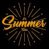 Vectorbeeld het de zomertijd van ` s Royalty-vrije Stock Foto