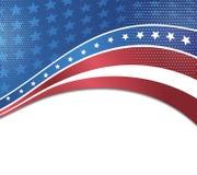 Vectorbeeld van Amerikaanse vlag Stock Afbeeldingen