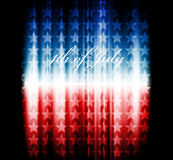 Vectorbeeld van Amerikaanse vlag Royalty-vrije Stock Foto