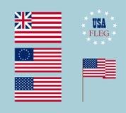 Vectorbeeld van Amerikaanse vlag Stock Foto's