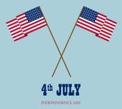 Vectorbeeld van Amerikaanse vlag Stock Fotografie