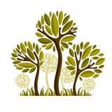 Vectorbeeld van creatieve boom, aardconcept Kunst symbolische illu Royalty-vrije Stock Afbeelding