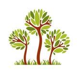 Vectorbeeld van creatieve boom, aardconcept Kunst symbolische illu Stock Foto
