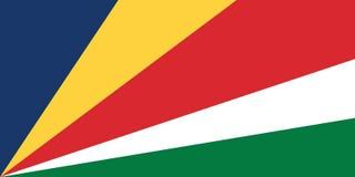 Vectorbeeld van de Vlag van Seychellen, Illustratie vector illustratie