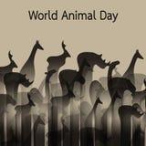 Vectorbeeld van dierlijke groepen wildlife royalty-vrije illustratie