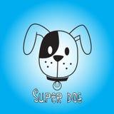 Vectorbeeld van dogon op blauwe achtergrond Het is goed voor dierenwinkel Stock Fotografie