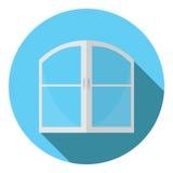 Vectorbeeld van een dubbel-gevleugeld venster Stock Foto's