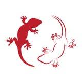 Vectorbeeld van een gekko Royalty-vrije Stock Afbeeldingen