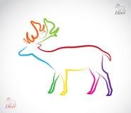 Vectorbeeld van een hert Royalty-vrije Stock Foto's