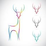 Vectorbeeld van een hert Royalty-vrije Stock Afbeelding