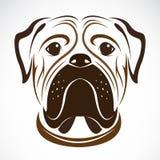 Vectorbeeld van een hond (buldog) Royalty-vrije Stock Foto's