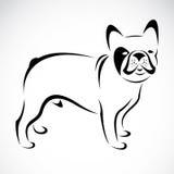 Vectorbeeld van een hond (buldog) Royalty-vrije Stock Afbeelding