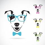 Vectorbeeld van een hond (Bull terrier) glazen royalty-vrije illustratie