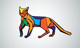 Vectorbeeld van een kattenontwerp op een witte achtergrond Royalty-vrije Stock Afbeeldingen