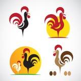 Vectorbeeld van een kippenontwerp Royalty-vrije Stock Foto