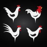 Vectorbeeld van een kippenontwerp Stock Foto's