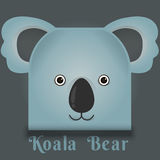 Vectorbeeld van een leuke koala vierkante stijl Stock Afbeeldingen
