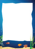 Vectorbeeld van een onderwaterlandschap Royalty-vrije Stock Foto