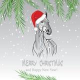 Vectorbeeld van een paard Royalty-vrije Stock Foto's
