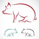 Vectorbeeld van een varken Royalty-vrije Stock Afbeelding