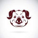 Vectorbeeld van een varkenshoofd Royalty-vrije Stock Foto's