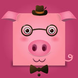 Vectorbeeld van een varkenshoofd Stock Foto