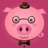 Vectorbeeld van een varkenshoofd Royalty-vrije Stock Afbeeldingen