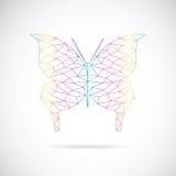 Vectorbeeld van een vlinderontwerp Royalty-vrije Stock Foto's