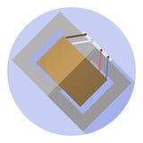 Vectorbeeld van een voltagetransformator Royalty-vrije Stock Foto
