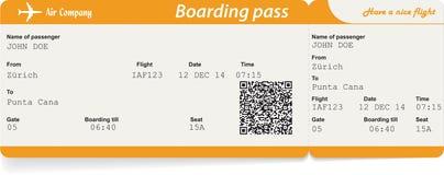 Vectorbeeld van het kaartje van de luchtvaartlijn instapkaart vector illustratie