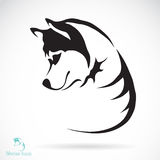 Vectorbeeld van hond Siberische schor stock illustratie