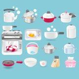 Vectorbeeld van keukengereedschapinzameling Stock Afbeelding