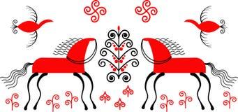 Vectorbeeld van meson het schilderen royalty-vrije illustratie