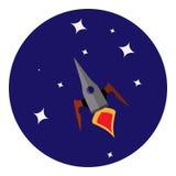 Vectorbeeld van ruimteschip Royalty-vrije Stock Foto's