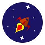 Vectorbeeld van ruimteschip Stock Foto's