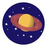 Vectorbeeld van Saturn Royalty-vrije Stock Foto's
