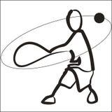 Vectorbeeld van tennisspeler Royalty-vrije Stock Afbeeldingen