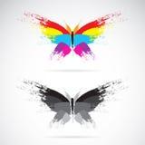 Vectorbeeld van vlinder Stock Foto