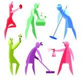 Vectorbeeld van vrouwen Netheid, het schoonmaken stock illustratie