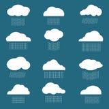 Vectorbeeld van wolk en regen Stock Afbeeldingen