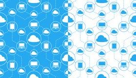 Vectorbeeld van wolk gegevensverwerkingsapparaten stock illustratie