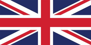 Vectorbeeld voor de Vlag van het Verenigd Koninkrijk stock illustratie