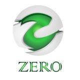 Vectorbeeldcirkel nul Royalty-vrije Stock Foto