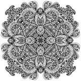 Vectorbeeldkrabbel, die voor het kleuren van mandala trekken Vierkant of vector illustratie