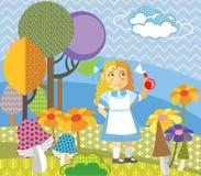 Vectorbeeldverhaal Alice 2 stock illustratie