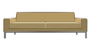Vectorbeeldverhaal beige die laag op wit wordt geïsoleerd Royalty-vrije Stock Foto