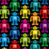 Vectorbeeldverhaal Kleurrijk Pixel Art Robot Background vector illustratie