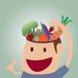 Vectorbeeldverhaal van het voedselconcept van Hersenen Stock Foto