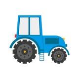Vectorbeeldverhaal vlak geïsoleerd tractor Stock Fotografie