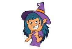Vectorbeeldverhaalillustratie van Leuk Halloween stock illustratie